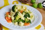 Kasza jaglana z brokułami i marchewką